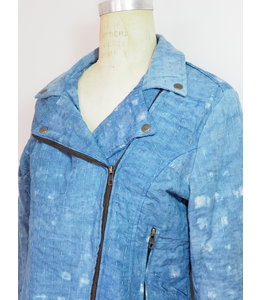 SHADE AMOUR INDIGO MOTO JACKET