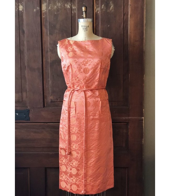 ELLAS ELLAS VINTAGE ORANGE DYNASTY DRESS