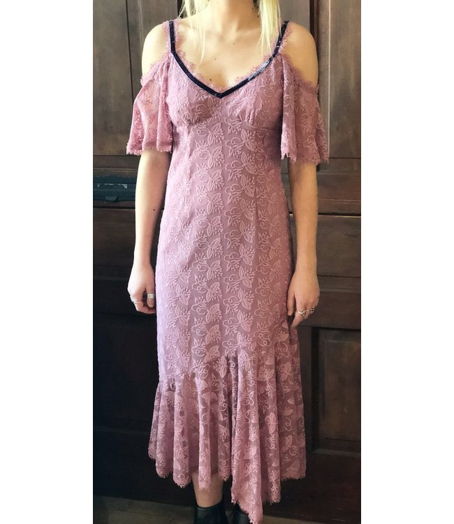 NANETTE LEPORE DEBBIE DRESS IN MAUVE