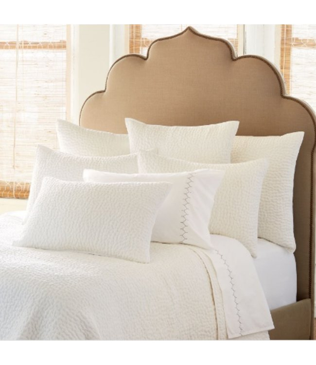 JOHN ROBSHAW BAHARI BRIGHT WHITE COVERLET TWIN 72X92