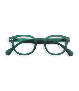 izipizi READING GLASSES #C - GREEN CRYSTAL SOFT
