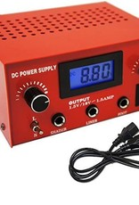 Dual Output Digital LCD Tattoo Power Supply- Red