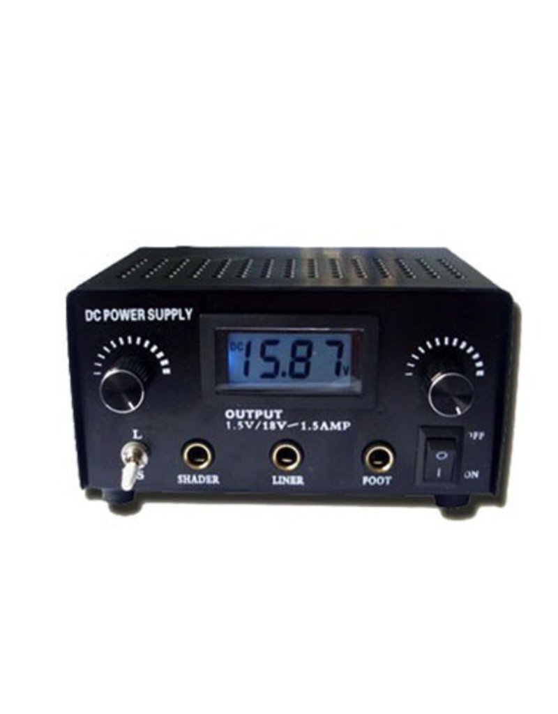 Dual Output Digital LCD Tattoo Power Supply- Black