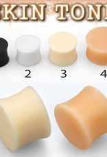 2pc. Flesh-toned silicone plug retainer #3 - 6g
