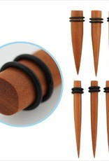 2pc. Sawo wood taper with double rubber O-rings-1/2""