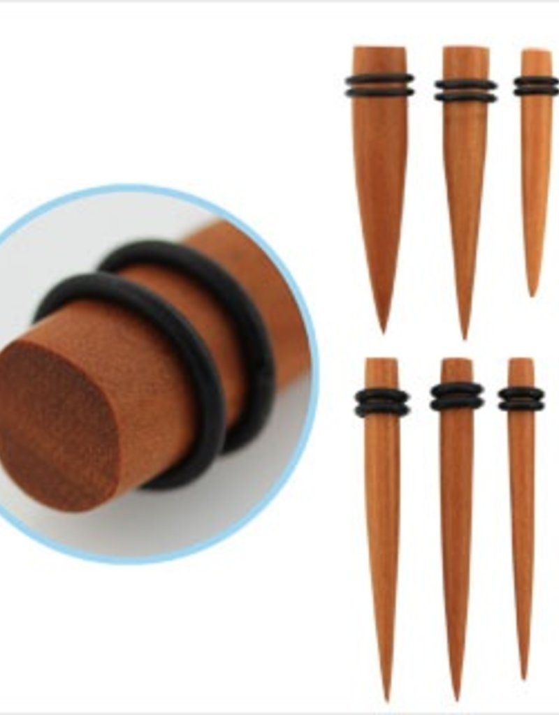 2pc. Sawo wood taper with double rubber O-rings-9/16""