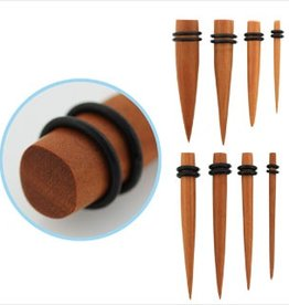 2pc. Sawo wood taper with double rubber O-rings-5/8""