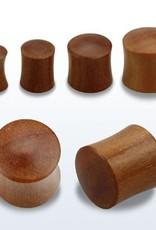 2pc. Teak wood double flared solid plug-4g