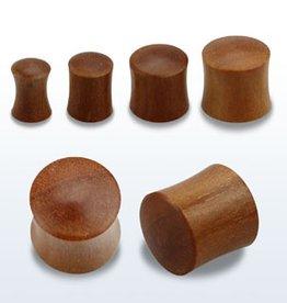 2pc. Teak wood double flared solid plug-0g
