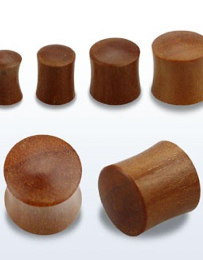 "2pc. Teak wood double flared solid plug-1/2"""