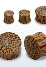 2pc. Coconut wood double flared solid plug-6g