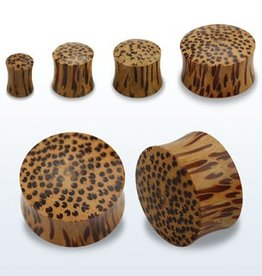 2pc. Coconut wood double flared solid plug-2g