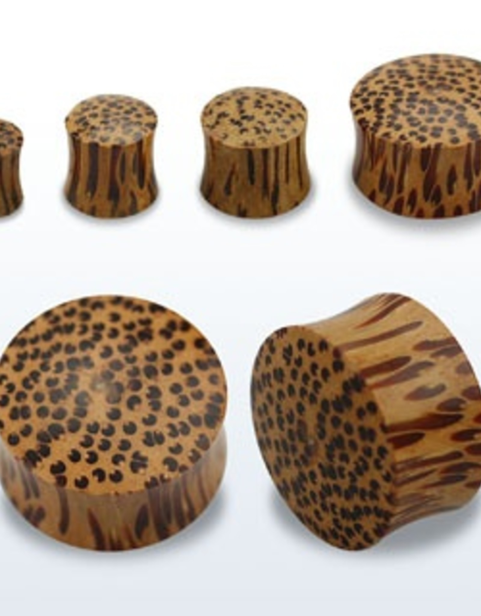 2pc. Coconut wood double flared solid plug-00g