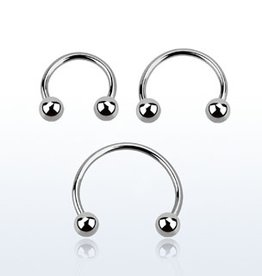 "Circular barbell 20g  ,3/8""  with 3mm balls"
