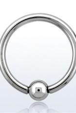 Ball closure ring, 14g, 4mm ball, 8mm