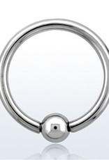 Ball closure ring, 14g, 4mm ball, 10mm
