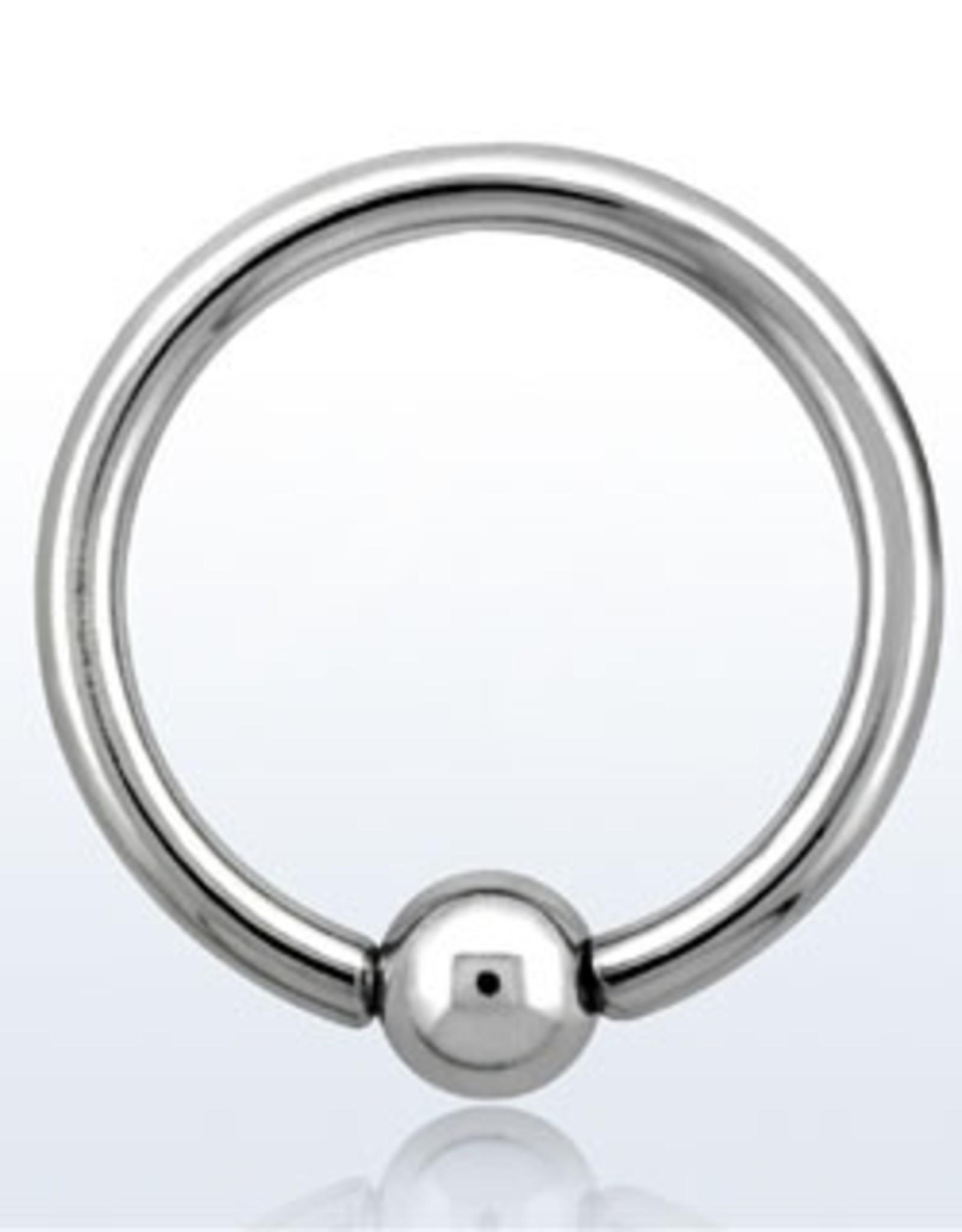 Ball closure ring, 14g, 4mm ball, 10mm