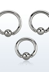 Ball closure ring, 10g, 6mm ball, 5/8''