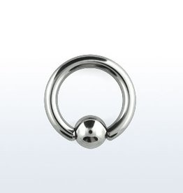 Ball closure ring, 8g, 8mm ball, 5/8''
