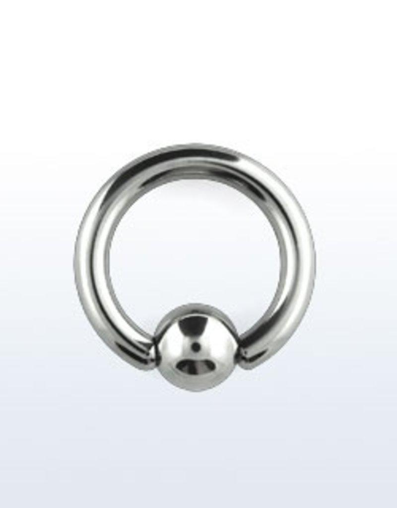 Ball closure ring, 8g, 8mm ball, 5/8''