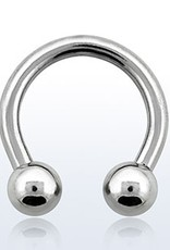 Circular barbell, 12g, 5mm balls, 1/2''; external threading