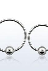 Ball closure ring, 20g, 3mm ball-10mm