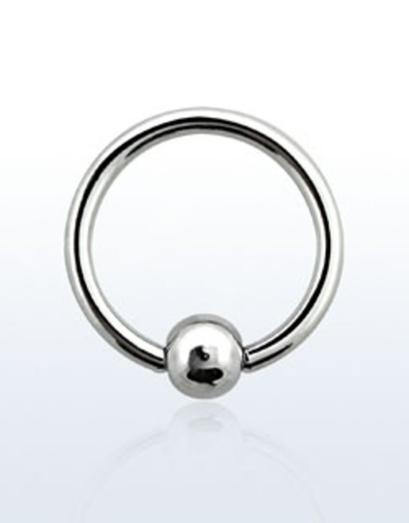 Ball closure ring, 18g, 3mm ball, 8mm