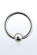 Ball closure ring, 18g, 3mm ball, 10mm