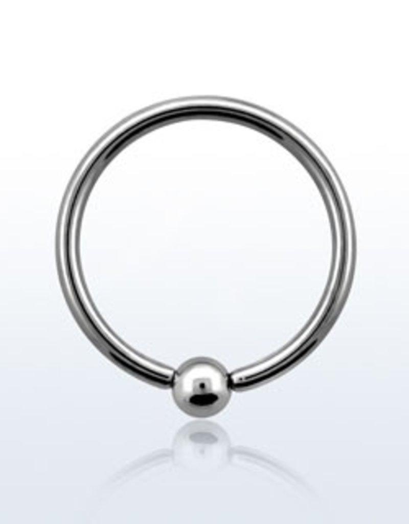Ball closure ring, 16g, 3mm ball-10MM