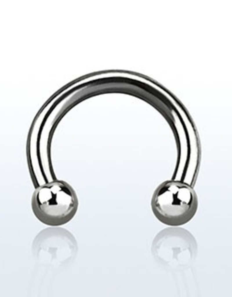 Circular barbell, 14g, 3mm ball - 8MM