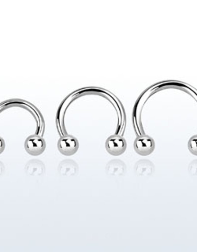 Circular barbell, 14g, 4mm ball - 10mm