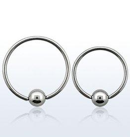 Ball closure ring, 20g, 3mm ball-8mm