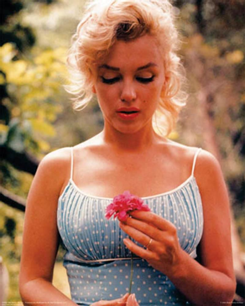 Monroe Marilyn blue dress pictures 2019
