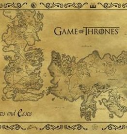 Game Of Thrones Antique Map
