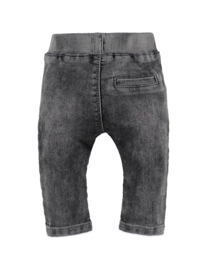 Baby Girl Jogger Jeans, Dark Grey Denim