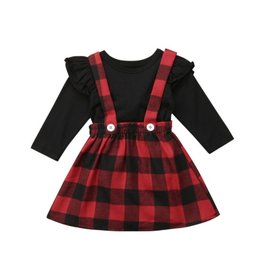 Red Plaid Suspender Skirt & Top