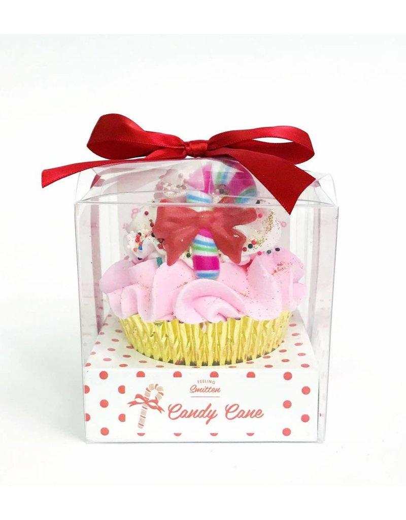 Large Candy Cane Cupcake Bath Bomb