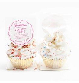 Feeling Smitten Mini Candy Cane Cupcake Bath Bomb