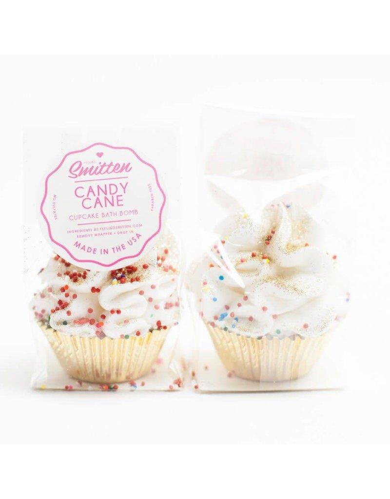 Mini Candy Cane Cupcake Bath Bomb