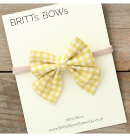 Stretch Headband - Mustard Gingham