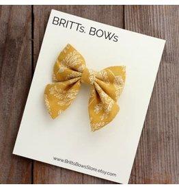 Britt's Bows Stretch Headband - Mustard Floral