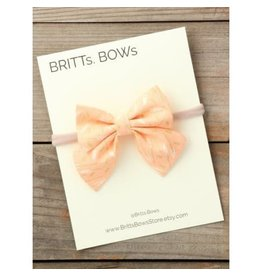Britt's Bows Stretch Headband - Peach Floral