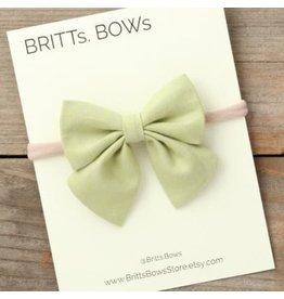 Britt's Bows Stretch Headband - Lime Green