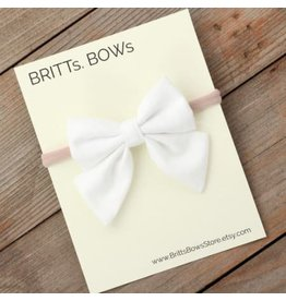 Britt's Bows Stretch Headband - White