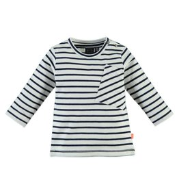 Stripe Pocket Tee - Indigo