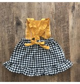 Ray of Sunshine Checkered Dress