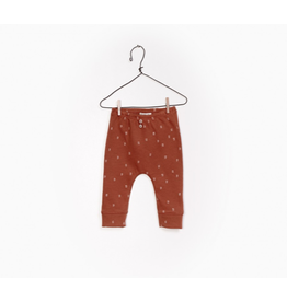 Printed Jersey Legging, Rust