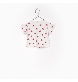 Printed Jersey Tee, Strawberry