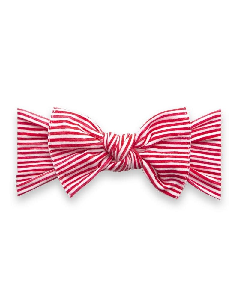 Printed Knot, Red Painted Stripe