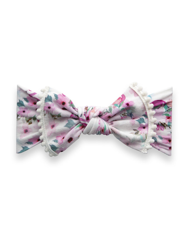 Trimmed Printed Knot, Flamingo Floral